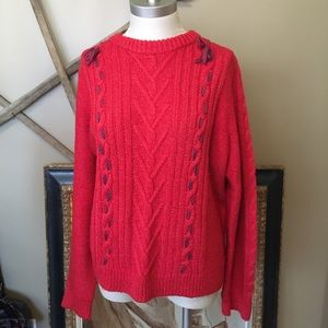 j. crew x the reeds red sweater